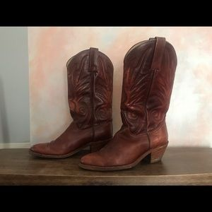 MEN'S Frye leather cowboy boots